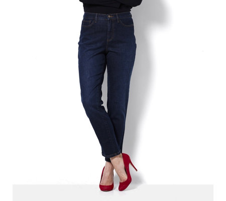 Denim & Co. 5 Pocket Ankle Length Jean Petite