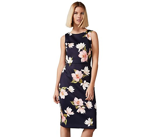 Phase Eight Amanda Navy Floral Scuba Dress