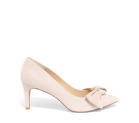 Phase Eight Sim Suede Bow Court Shoe