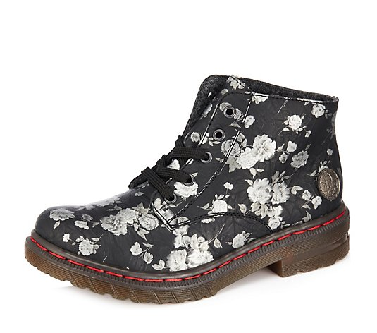Rieker Floral Pattern Ankle Boot