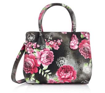 Butler Wilson Faux Leather Flower Print Shoulder Bag 162062
