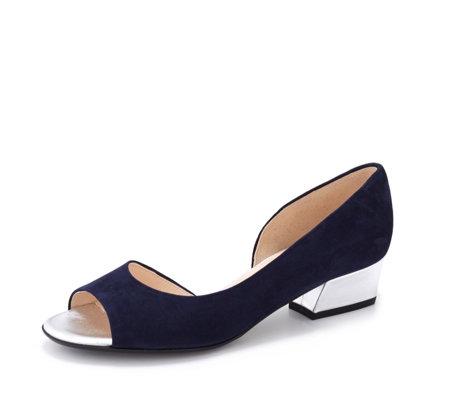 new style 53431 d695f Peter Kaiser Pura Low Block Peep Toe Court Shoe - QVC UK