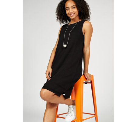 MarlaWynne Double Knit Sleeveless Dress with Stitch Detail