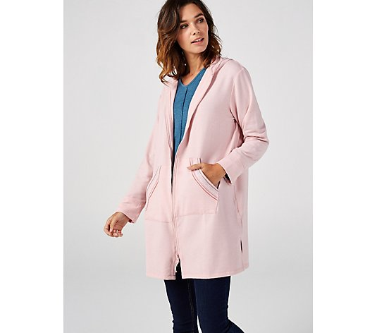 Cuddl Duds Comfortwear Hooded Robe with Pockets
