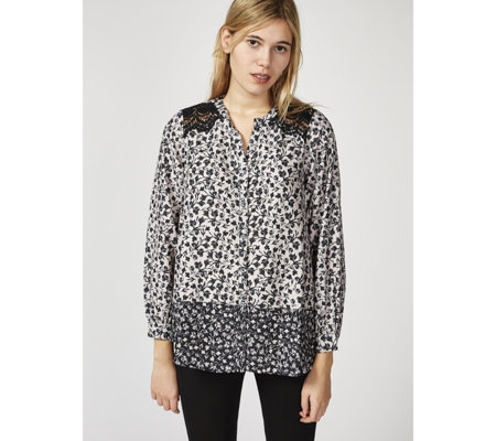 Together Blouse with Border Print