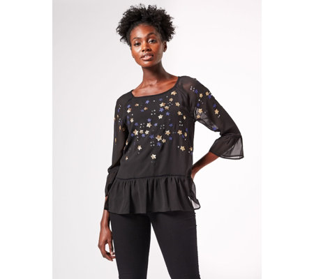 Phase Eight Dominik Star Sequin Blouse