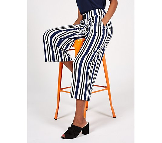 Kim & Co Brazil Jersey Relaxed Cropped Trousers with Pockets