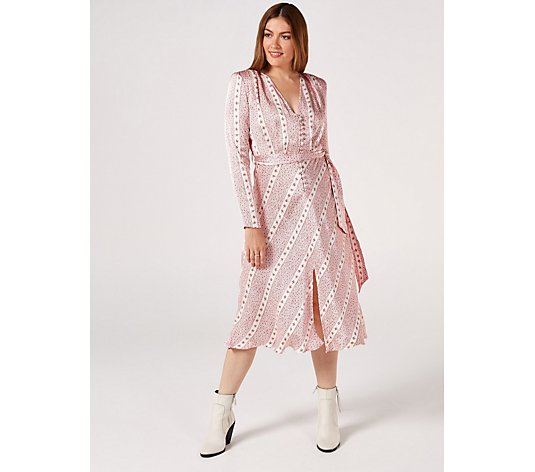 Ghost London Meryl Ditsy Stripe Printed Dress