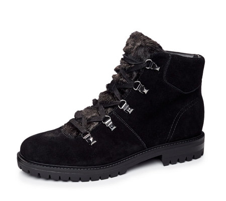 Marc Fisher Hobson Lace Up Boot w/ Faux Fur Trim
