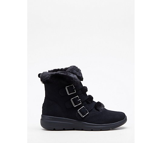 Skechers Glacial Ultra Buckle Up Suede Boot