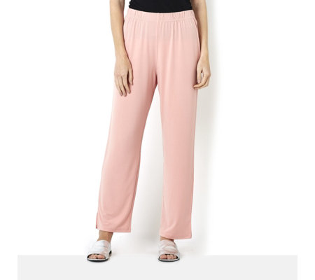 Petite Jersey Trousers with Split Hem Ankle Detail by Michele Hope