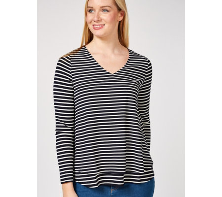 Together Striped & Layered Long Sleeve Top