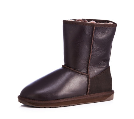 Emu Originals Townsend Water Resistant Leather Effect Sheepskin Boot