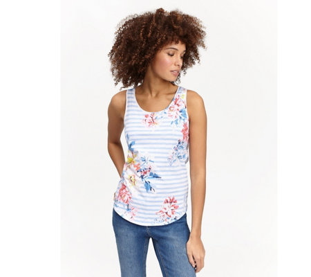 Joules Sleeveless Jersey Printed Top