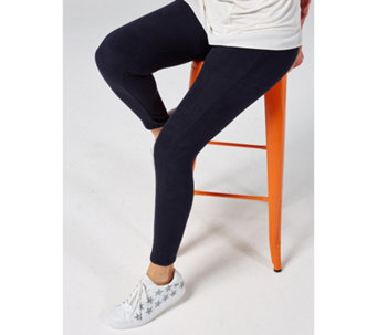 Cuddl Duds Women/'s Pull-on Fleecewear Stretch Leggings Pant Black Small Size QVC