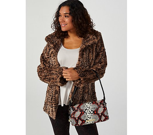 Centigrade Animal Print Faux Fur Coat