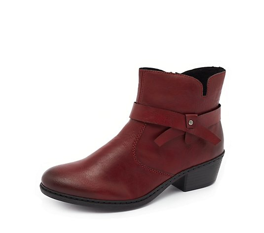 Rieker Red Strap Detail Boot