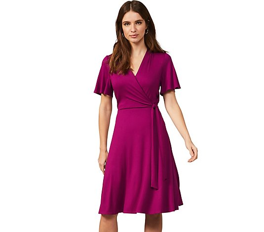 Phase Eight Jersey Wrap Midi Dress