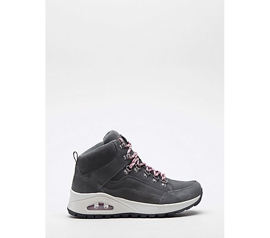 Skechers Uno Rugged Suede Lace Up Fashion High Top Boot