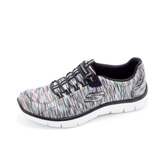 Skechers Empire Game On Metallic Space Dye Bungee Slip On Trainer - 163866