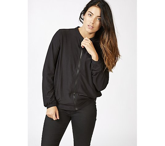 Attitudes by Renee Jersey Zip Jacket