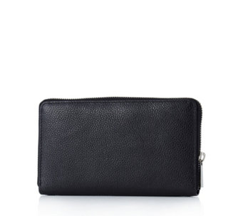 Amanda Lamb Leather Tassel Zip Wallet - 167366