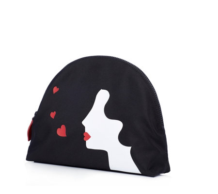 Lulu Guinness Kissing Cameo Girl Large Crescent Pouch