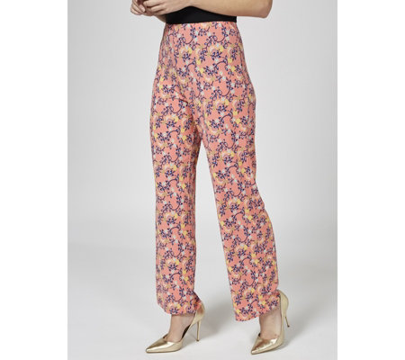 Paisley Printed Palazzo Trousers by Michele Hope