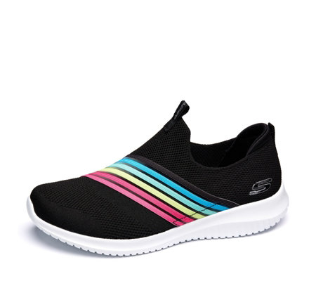 Skechers Ultra Flex Rainbow Brightful Day Slip On Trainer