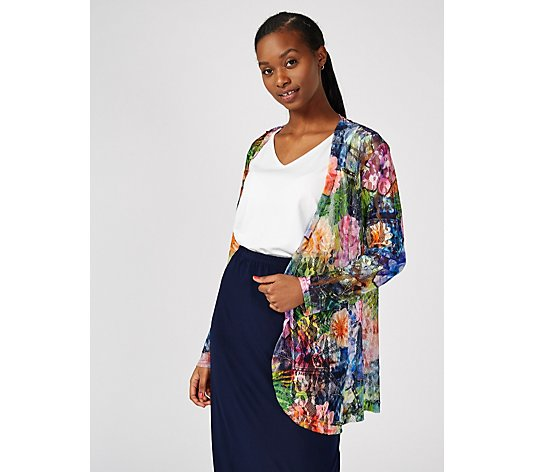 Peony Print Lace Cardigan by Michele Hope