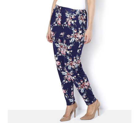 Outlet Antthony Designs Printed Pull On Trouser with Pockets