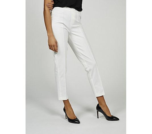 Isaac Mizrahi Live 24/7 Stretch Ankle Trousers with Side Trim Regular