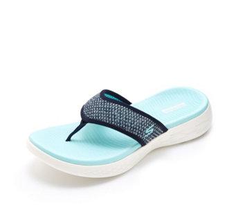 ef362759532 Skechers On The Go 600 Glossy Toe Post Sandal - 176567
