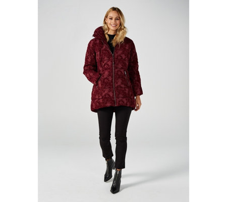 Centigrade Faux Down Flocked Detail Jacket