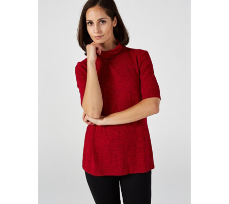Kim & Co Brushed Lux Sweater Knit Turtle Neck Top