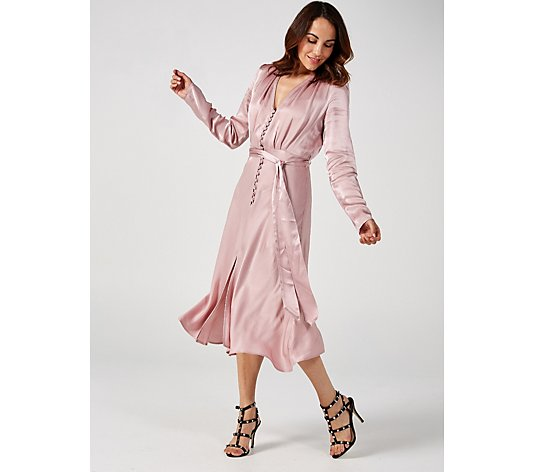 Ghost London Meryl Soft Pink Dress
