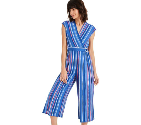 Phase Eight Rhai Striped Printed Jumpsuit