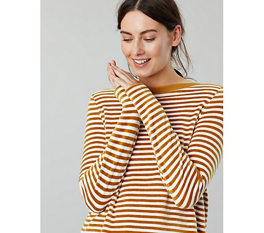 Joules Esme Slash Neck Jersey Top