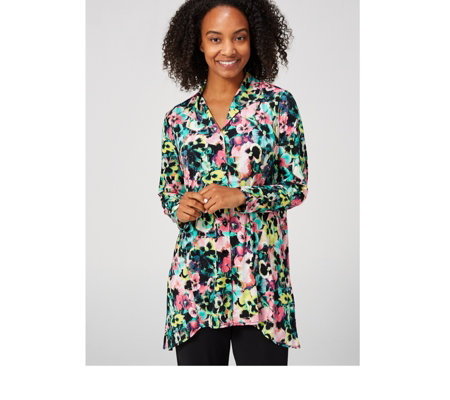 Swing Panelled 3/4 Sleeve Shirt by Michele Hope