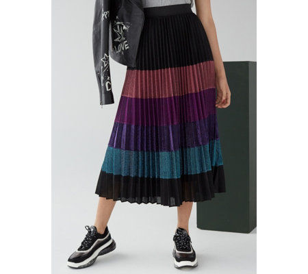 Derhy Multi Stripe Skirt
