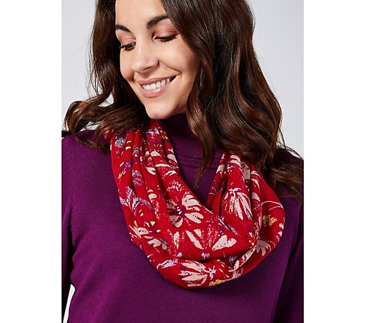 Lola Rose Printed Infinity Scarf with Pouch