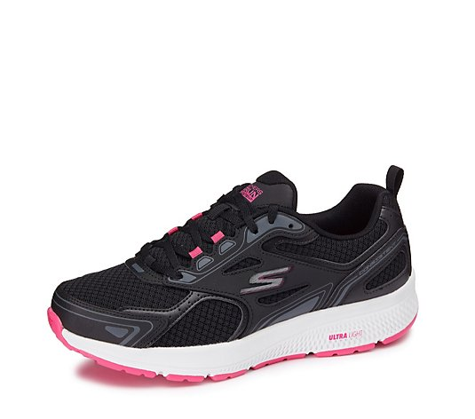 Skechers Go Run Consistent Athletic Mesh Lace Up Trainer