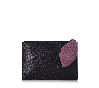 Lulu Guinness Glitter Cut Out Lip Pouch - 127468