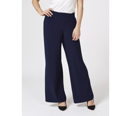 Regular Matte Jersey Palazzo Trousers by Nina Leonard