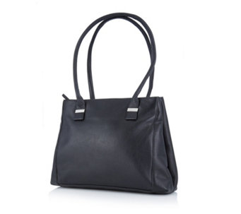 Amanda Lamb Large Saffiano Leather Double Compartment Shopper Bag - 167368