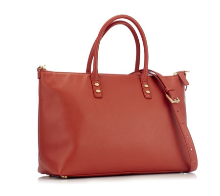 Lulu Guinness Frances Medium Leather Tote Bag with Detachable Strap