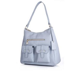 Ashwood Leather Double Pocket Hobo Bag - 176668 a2bf18db6f45b