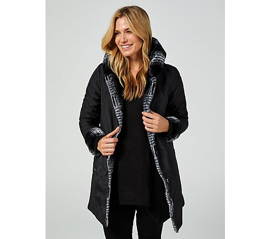 Centigrade Reversible Faux Fur Coat