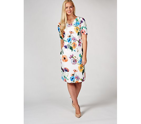 Ruth Langsford Short Sleeve Wild Flowers Printed Shift Dress