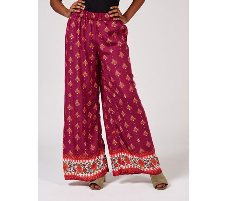 Artscapes Holiday Collection Printed Palazzo Trousers